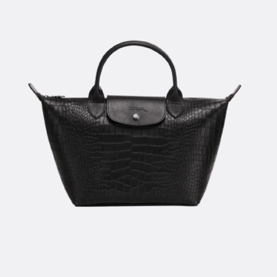 Longchamp - le sac pliage embossé noir